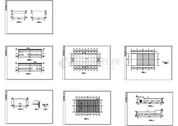 某市单层小厂房建筑设计图-图一