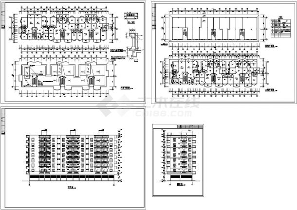8层临江商住楼建筑设计CAD图-图一