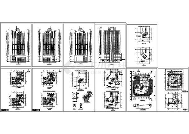 -2+25层点式商住楼建筑设计CAD图-图一