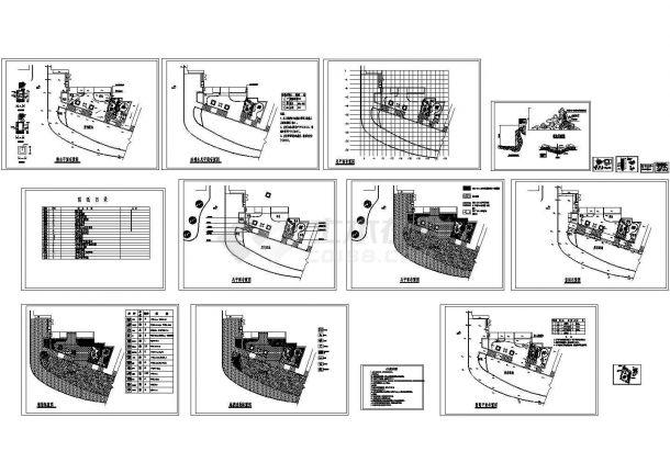 庭院绿化施工CAD图纸设计-图二