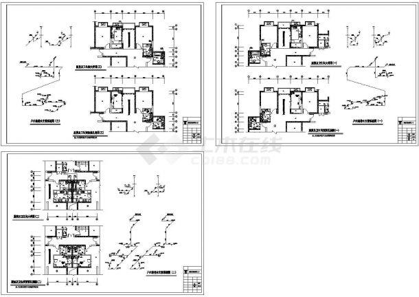 某29层高层住宅给排水设计CAD-图一