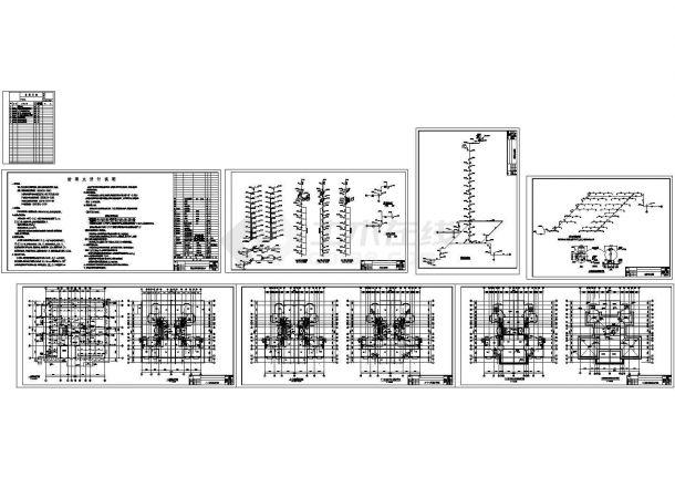 贵州某小高层住宅给排水设计图CAD-图一