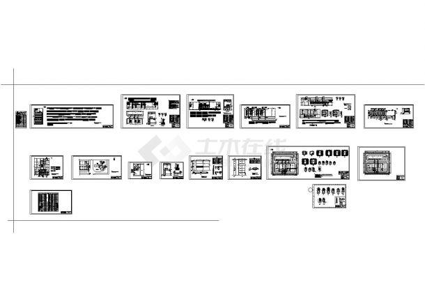 某地区220KV变电站铺设cad电气施工设计方案图(某甲级院设计)-图一