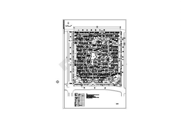 某总用地22.14ha(221439㎡)经典小区规划设计cad施工总平面图(含经济技术指标)-图一