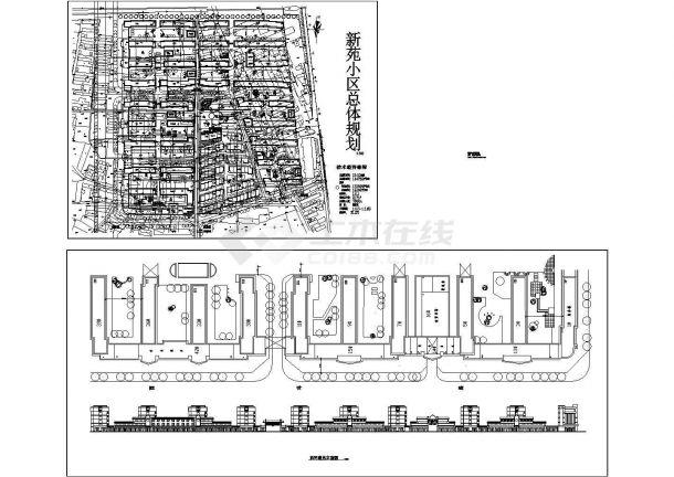 某总用地10.10公倾住宅总户数2171户小区总体规划设计cad施工总平面图(含技术经济指标)-图二
