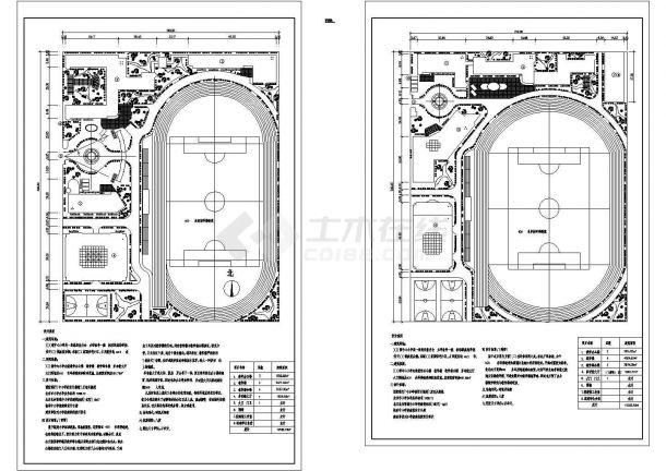 某占地46.2亩某镇中心小学规划设计cad施工总平面图(含设计说明,含经济技术指标,含2种方案设计)-图二