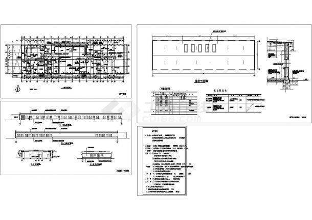 某一层砖混结构食品加工厂房(2156㎡)设计cad全套建筑施工图(含设计说明)-图二