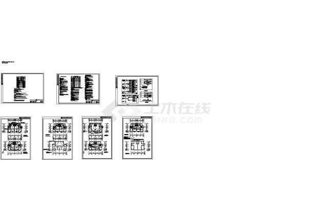 某三层双拼别墅电气节能设计cad图纸,含 设备图例 节能设计说明 配电系统图 电话电视系统图 电气 弱电 屋顶防雷 基础接地-图一