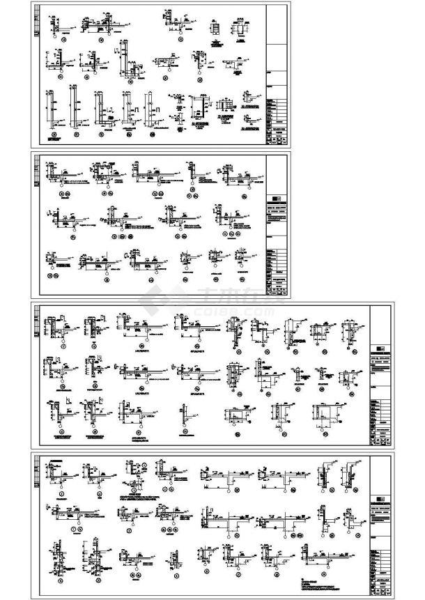[河北]33层框支剪力墙商业广场结构设计cad施工图(甲级设计院设计)-图一