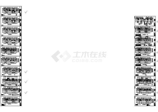[河北]33层框支剪力墙商业广场结构设计cad施工图(甲级设计院设计)-图二