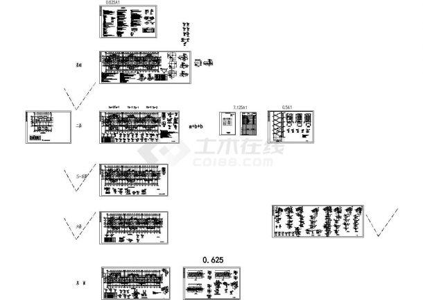 【6层】3381.54平米砖混住宅楼((建筑、结构CAD图)、平面布置图、进度表,施工组织设计,施工图预算)-图一