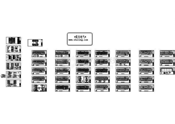 江苏某学院学生宿舍楼电气施工设计图纸-图一