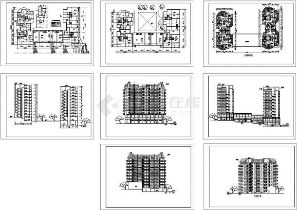 航运新村1-3号楼高层住宅建筑设计施工图-图一