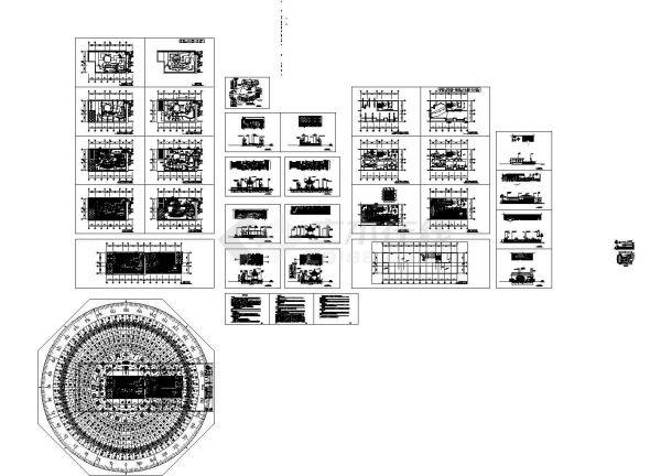 屋顶花园别墅庭院景观设计CAD施工图(cad)-图一