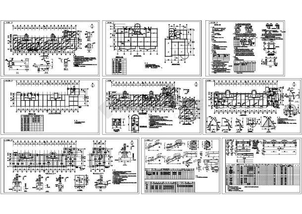 某七层学生宿舍楼混凝土结构施工图CAD-图二