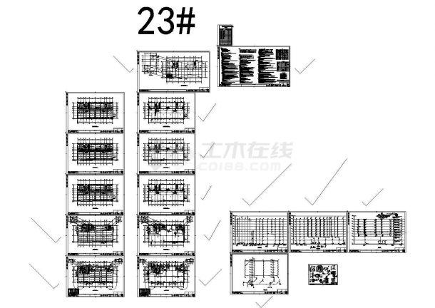 青岛大型住宅区给排水设计施工图,23#-图一
