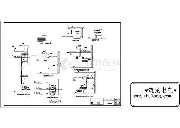 电气工程自控设备安装cad大样图-图二