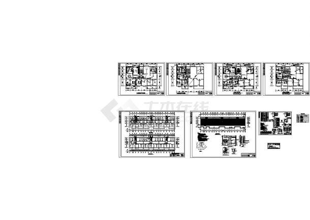 某多层框架结构住宅楼强弱电设计cad全套电气施工图(含设计说明,含防雷说明)-图一