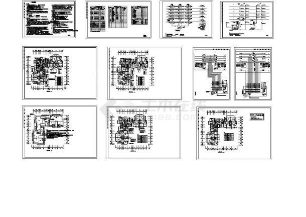 某多层框架结构住宅楼电气设计cad全套施工图(含设计说明,含弱电设计)-图一