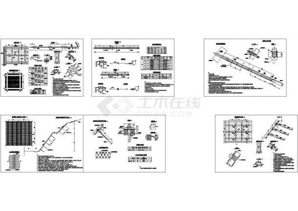 锚杆(锚索)框架挂网植草防护边坡设计cad图纸(钢筋锚杆,锚索,甲级设计院设计)-图一