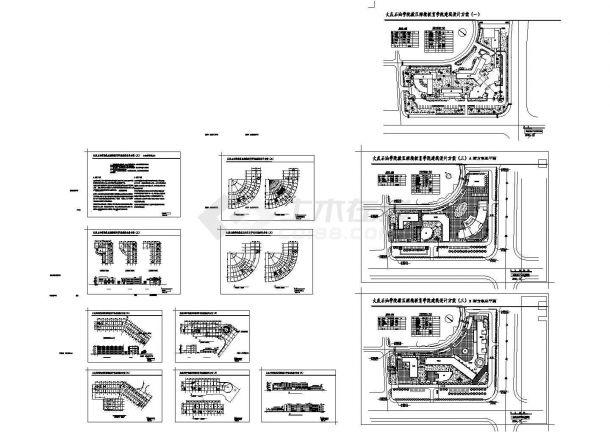 大庆石油学院教区继续教育学院建筑设计方案施工cad图纸-图一