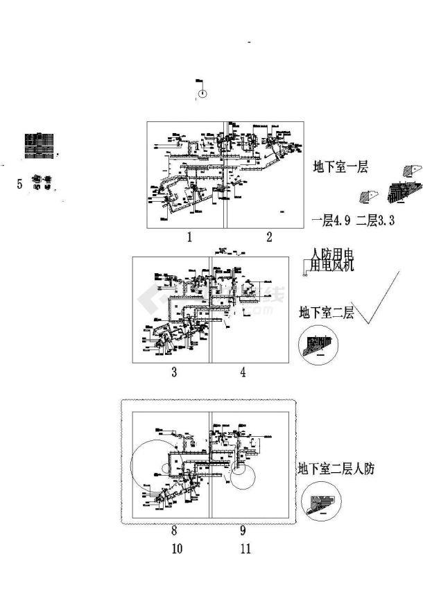 [福建]某地高层商业综合楼空调及防排烟系统设计施工图(人防设计)-图一