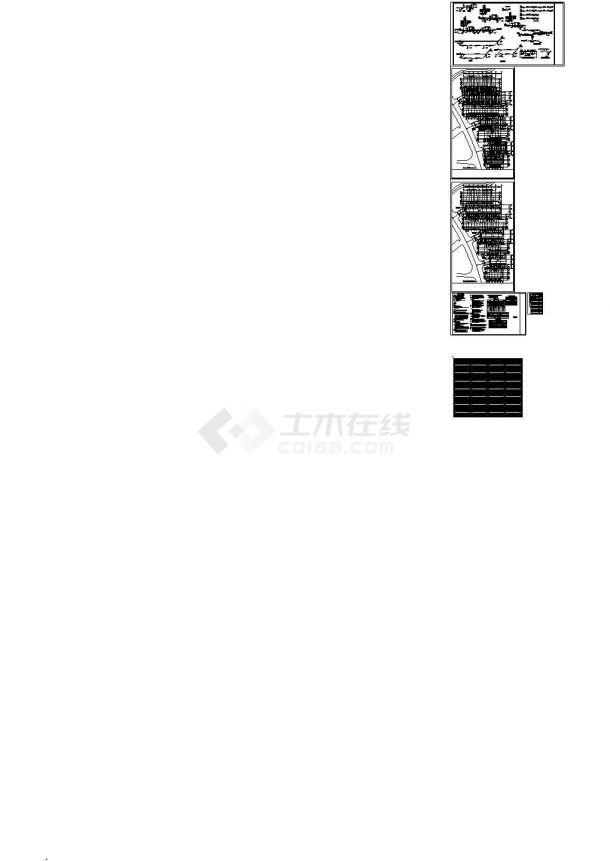 [辽宁]多层联排别墅给排水施工设计cad图,含给排水设计说明-图二