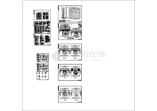 广西十二层住宅小区给排水施工cad图,共十一张-图二