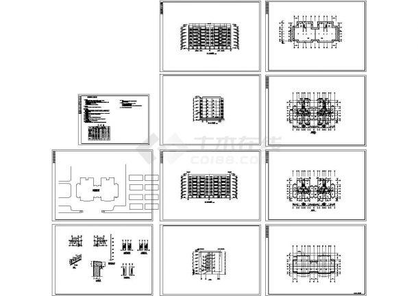 某小区七层住宅楼建筑cad施工图设计(对称户型)-图一