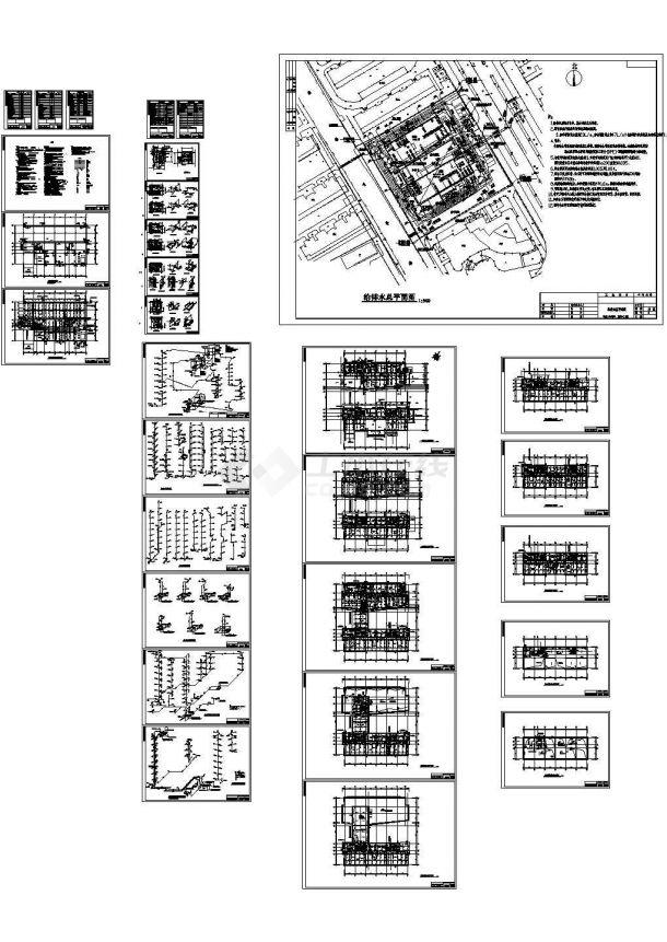 某11600㎡高层办公楼给排水设计图-图一