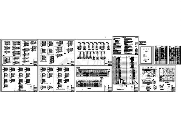 30层商住楼设计说明及高低压配电系统图(cad)-图二