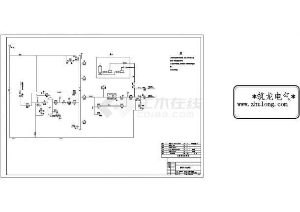 湖南某储配站管道安装详细CAD工艺图-图二
