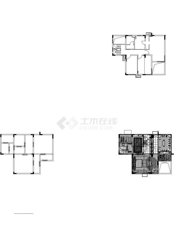 万科某豪宅样板别墅室内装修设计cad全套施工图(含实景图)-图二