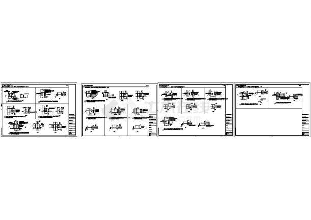 民用钢框架H形或工字形梁柱刚接形式节点构造详图-图一