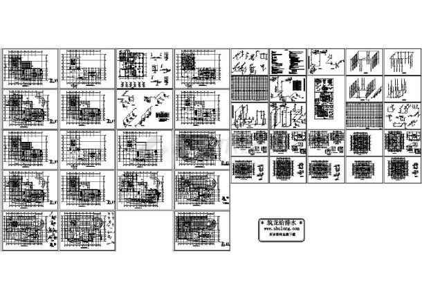 某高层建筑给排水设计CAD图纸设计-图一
