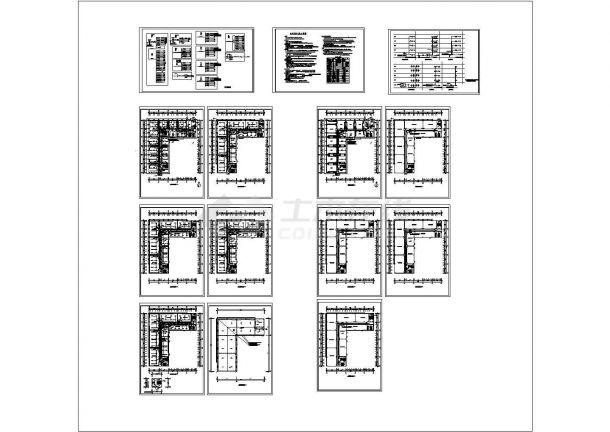 某地五层办公楼电气施工图-图一