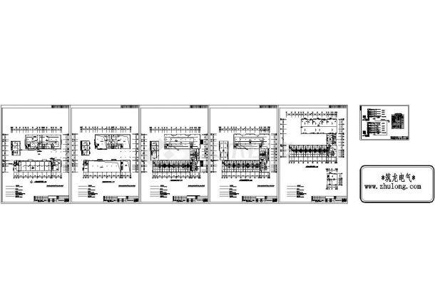 某五层大楼消防自动报警电气图纸(cad)-图一