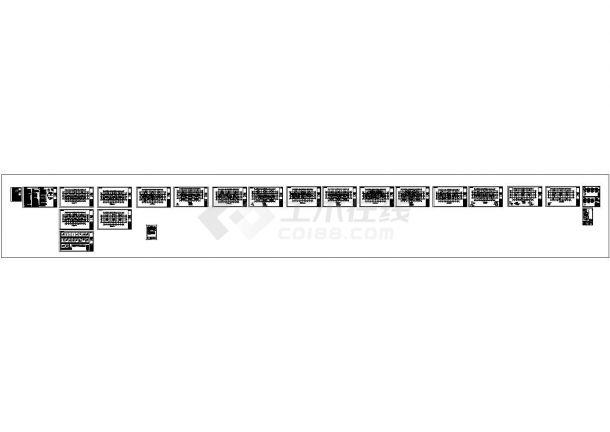 18层剪力墙结构住宅楼结构施工图(cad)-图二