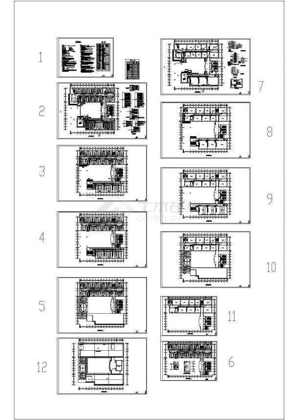 某1万平方米德州五层学院教学楼电气设计cad图纸-图一