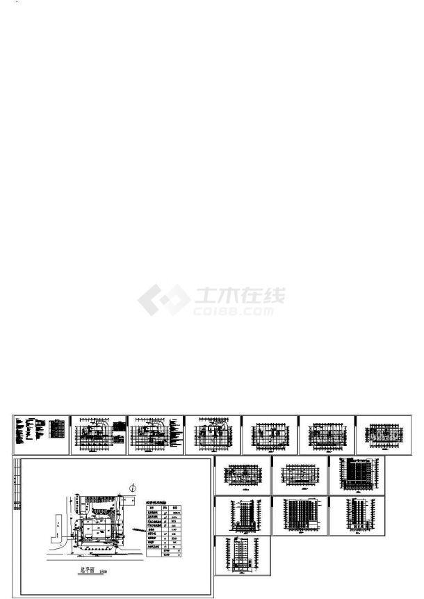 某地10层住宅楼建筑设计施工图(含设计说明)-图一