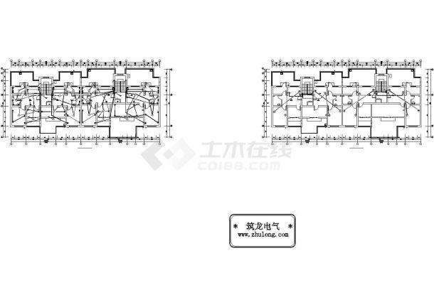 某阁楼电气详细CAD设计平面布置图-图二