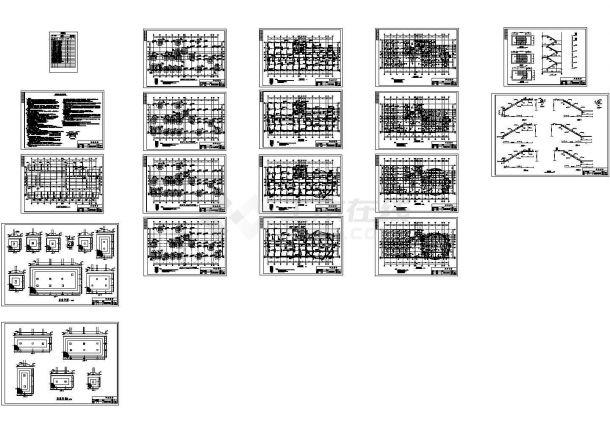 某7层框架结构办公楼设计cad全套建筑施工图(含设计说明,含结构设计,含施工组织设计,含计算书)-图二