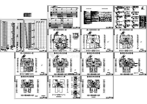 十八层点式住宅楼强弱电施工图纸设计-图一