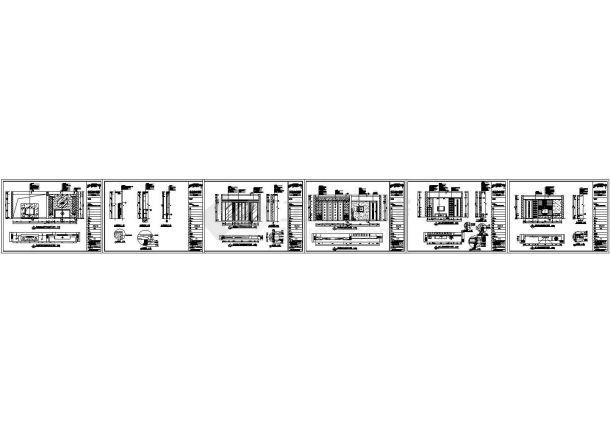 某现代风格三居住宅室内装修设计cad全套施工图含效果图(标注详细)-图一
