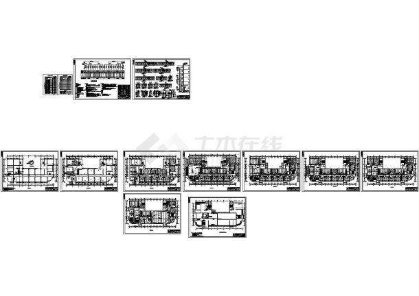 某13483平方米陕西六层大专院校教学楼电气设计cad图纸(高28.5米)-图二