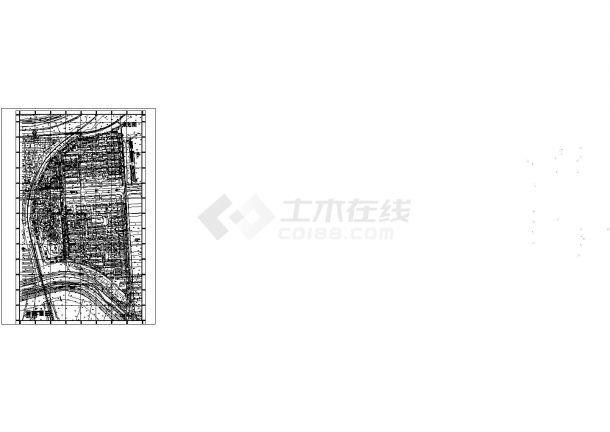 某长方形地块高档住宅小区规划设计cad总平面方案图(甲级院设计)-图一