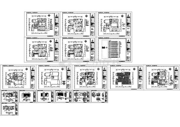 某城市现代城住宅室内装修设计cad全套施工图附效果图(标注详细)-图一