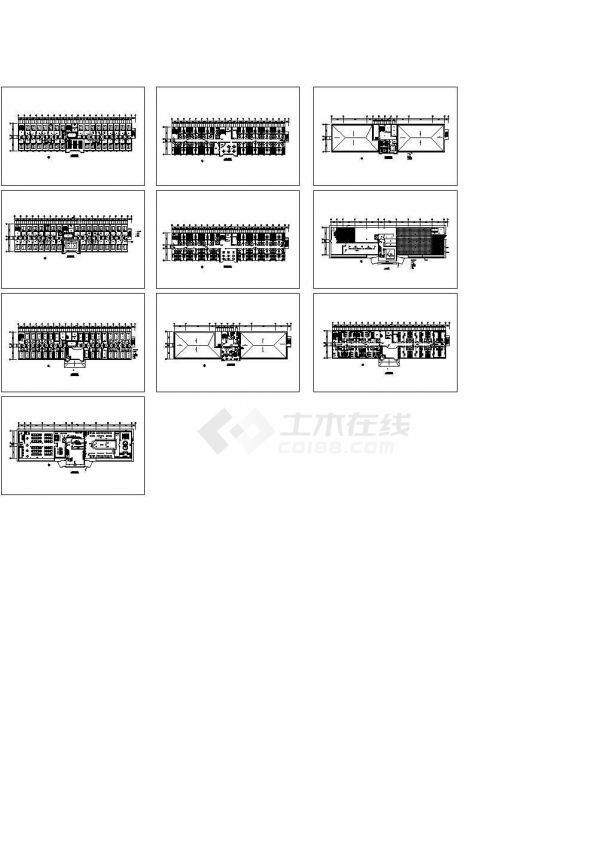 某多层洗浴中心室内装修设计cad全套方案图(甲级院设计)-图一
