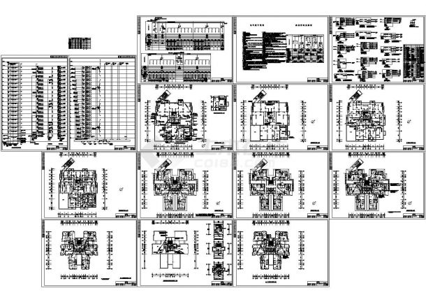 某18层住宅楼全套电气施工图 包含着低压配电系统图、高压配电系统图-图一