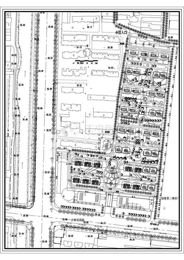 某大型高级居民小区总平面规划设计cad方案图(甲级院设计)-图二